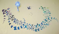 Butterflies flutter by. A simple and effective wall decoration.