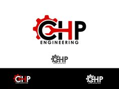 wrench forming letter engineering logo