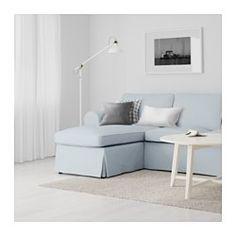 EKTORP 2sz knp+fekvőfotel, Nordvalla világoskék - Nordvalla világoskék - IKEA