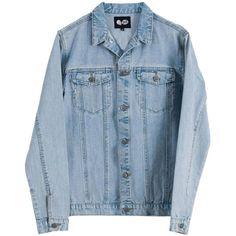 Cheap Monday Denim Jeans Jacket - Light Blue ($96) ❤ liked on Polyvore