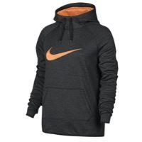Nike All Time Swoosh Hoodie - Women's - Black / Orange