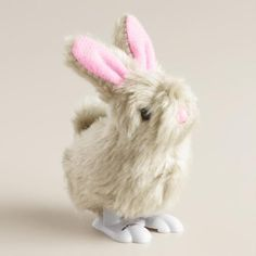 One of my favorite discoveries at WorldMarket.com: Gray Easter Bunny Wind Up Toys Set of 2