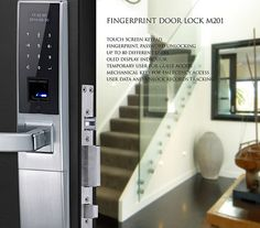 Avent Security M201 biometric lock with touch screen keypad