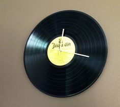 DIY vinyl clock.