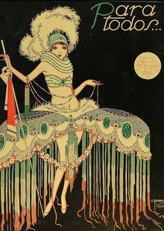 artcdeco culturainquieta7 Illustrazione tratta dalla rivista brasiliana degli anni '20 Para Todos