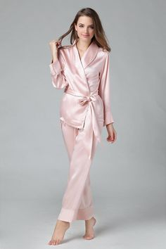 cbdb73202 US $135.99 |New MS Chinese Heavy Silk Satin Sleepwear Female 100% pure Long  sleeve full Pants Pajama Set Women Home Sleep Lounge Suit-in Pajama Sets  from ...