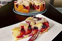 Pflaumenkuchen nach Oma Mia Plum cake to Grandma Mia, a great recipe from the fruit category. German Cakes Recipes, German Desserts, Cake Recipes, Food Cakes, Cupcake Cakes, Cake Recipe Using Buttermilk, German Plum Cake, German Baking, Gateaux Cake
