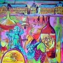 GALERIE - Galerie Villa Mandarine à Bordeaux ,tableaux contemporains de Laurence PERIN essais à domicile gratuit