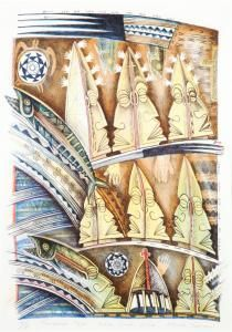 Tangaroa Tupe, Lima Lima Lima by NZ artist Michel Tuffery. Lithograph, 650 x 455 mm Olivia Young, Polynesian Art, Art Auction, Artist Painting, Art Market, Lima, Printmaking, Amazing Art, Sustainability
