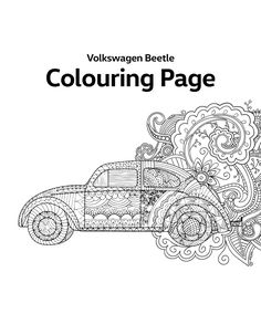 Download the printable Volkswagen Beetle Colouring Page for free to get into the relaxing Mandala spirit. Then get out your pencils and tackle your stress.