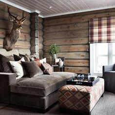Cabin-life Tag someone who could need this right now Cabin Chic, Cozy Cabin, Cozy House, Cabin Homes, Log Homes, Log Cabin Bedrooms, Lodge Style, Cabin Interiors, Cabin Design