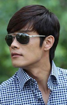 lee byung hun in checks & shades