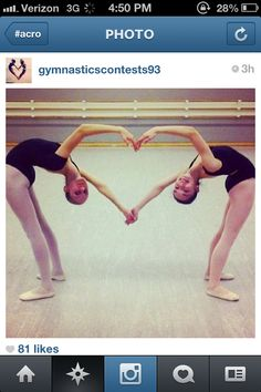 I want to do this with this girl I know from martial arts. we can already hold hands and go into the backbends :)