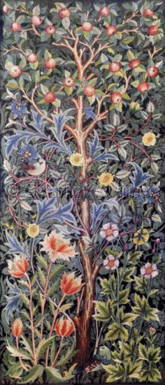 Apple design by John Henry Dearle. Produced by the William Morris studio, after 1896