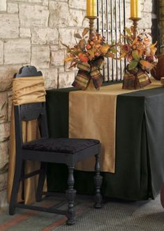 Go from folding table to elegant dining or serving space in seconds...