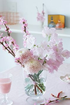 【春の花色配色】ピンク濃淡 ひな祭りの花!大人っぽくセンスよく活けるコツ Home Flowers, Spring Flowers, Bonsai Plante, Chinese New Year Flower, Cherry Blossom Theme, Flower Iphone Wallpaper, Flora Design, Elegant Flowers, Flower Photos