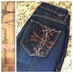 """NWOT Jag Jeans Straight Leg 32"""" inseam Jag jeans brand new without tag. Size 8. Cool studded back. Approx 32"""" inseam.  Item Location GA Bin 3. JAG Jeans Jeans Straight Leg"""