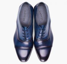 Lanvin Toesade Navy Dress Shoe