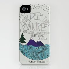 Einstein/Nature - iPhone case