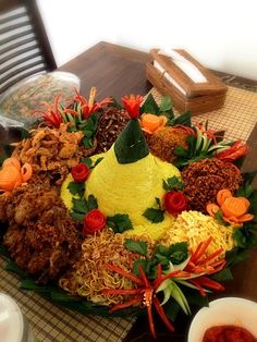 Indonesia special dish for gathering.. - 12件のもぐもぐ - Tumpeng with yellow rice by Iriani Irenne Thamrin