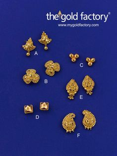 Look at the styles, shapes, karigari. You'll get all this and loads more at your favourite jewellery store, The Gold Factory. Designs for the new year are now in. All in hallmarked gold. Gold Jhumka Earrings, Gold Bridal Earrings, Jewelry Design Earrings, Gold Earrings Designs, Gold Jewellery Design, Baby Earrings, Gold Jewelry Simple, Simple Earrings, Gold Factory