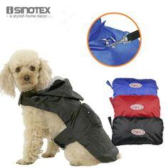 Dog Clothes Waterproof Cat Raincoat Fabric Pet Jacket Rainy Days Clothing Solid Polyester Hooded Pets Rain Coat #Affiliate
