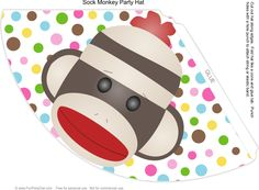 Sock Monkey Party Hat
