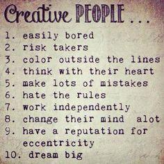Filosofía de la gente creativa!!!
