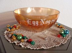 Vintage Egg Nog Punch Bowl