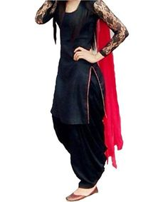 LadyIndia.com #Unstitched Suit, Designer Party Wear Low Price Sale Offer Black Cotton Unstitched Patiala Salwar Kameez Suit Dress Material With Dupatta, Unstitched Suit, Salwar Suit Duptta Set, Dress Material, Anarkali Dress, Straight Suit, https://ladyindia.com/collections/ethnic-wear/products/designer-party-wear-low-price-sale-offer-black-cotton-unstitched-patiala-salwar-kameez-suit-dress-material-with-dupatta