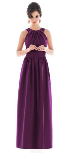 Long bridesmaid dress. Like the style (not the colour) should suit everyone!