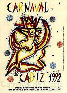 cartel carnaval cadiz 1992 - Buscar con Google