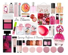 """""""In Bloom: Spring Perfume & Beauty Essentials"""" by curekitty on Polyvore featuring beauty, Jo Malone, NYX, Lancôme, NARS Cosmetics, Christian Dior, Rimmel, Elizabeth Arden, Bobbi Brown Cosmetics and Marc Jacobs"""