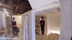Fractal Kyoto: tiny cube hut as house inside office building