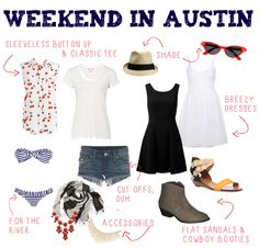 What to Pack :: Weekend in Austin, Texas — aj wears clothes Capsule Wardrobe, Travel Wardrobe, Summer Wardrobe, Girls Weekend, Weekend Outfit, Long Weekend, Weekend Getaway Outfits, Casual Weekend, Weekend Wear