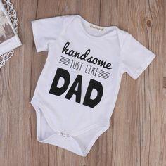 HANDSOME JUST LIKE DAD onesie