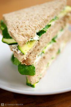 Vegan Cucumber and Watercress Sandwiches