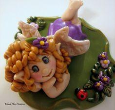Polymer Clay Fairy by Trina's Clay Creations