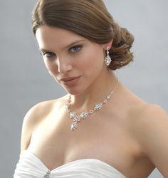 Crystal swirl bridal jewelry