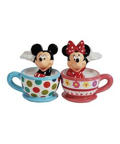 Loving this Mickey & Minnie Teacups Salt & Pepper Shakers on #zulily! #zulilyfinds