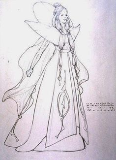 Star Wars Padme Amidala Parade Celebration Dress - Original Concept Art