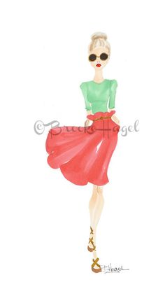 June  Fashion Illustration  Brooke Hagel by brooklit on Etsy, $20.00