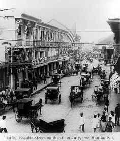Escolta Street on the 4th of July, 1899, Manila