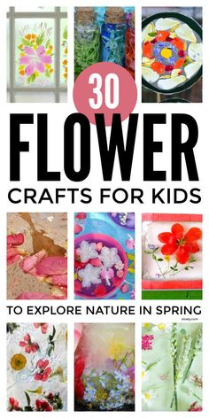 Lovely flower crafts for kids to explore nature in spring including painting with flowers, play dough & gloop, sensory bins, pressed flowers, fine motor threading, flower chains and crowns and potions that help them learn about plant science #flowercrafts #flowercraftsforkids #naturecraftsforkids #springcrafts #plantscience #naturecrafts Green Crafts For Kids, Spring Crafts For Kids, Easy Crafts For Kids, Toddler Crafts, Toddler Play, Kid Crafts, Nature Activities, Spring Activities, Craft Activities For Kids