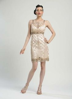 Blush Sequin & Beaded Illusion Short Prom Dress - Unique Vintage - Cocktail, Pinup, Holiday & Prom Dresses.