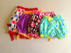 Sewing Patterns for Girls Dresses and Skirts: Bubble Shorts Sewing Pattern, Girl's Shorts Pattern, Baby Bloomers Pattern, 3 months to 6 year...