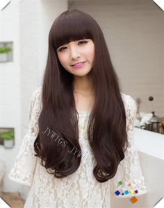 Synthetic Heat Reisistant Fiber  Women Lady Long Wavy Hair Full Wigs Cosplay Party 4Colors