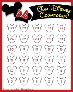 disneyland countdown calendar | designs by nicolina: DISNEY COUNTDOWN! {FREE PRINTABLE}