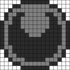 Pokémon Darkness Energy Perler Bead Pattern / Bead Sprite