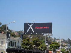 Project Runway #makeitwork glittering scissors billboard